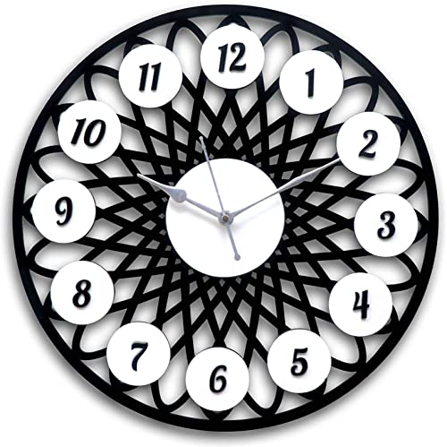 Sukhkar Electronic New Antique Fancy Design Round Shape Light Weight Wall Clock Home D cor Interior Designed Gift Decorative Ghadi for Living Room Mall Bedroom Wall School and Office