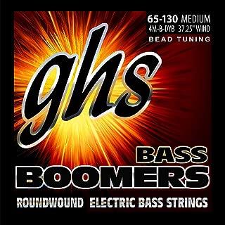 GHS Strings 4M-B-DYB, 4-String Bass Boomer Set for Bead Tuning-Medium (065-130)