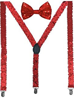 Buha Suspenders for Men, 2 in 1 Suspenders and Bow Tie, Mens Outfits Casual Suspender and Bow Tie Special Edition
