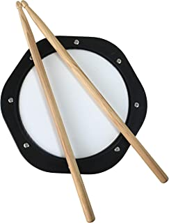 Dioletto Snare Drum Practice Pad and Drumsticks Set with 10 inch Drumming Pad and 5A Wooden Sticks - Exercise Workout Kit for Professional and Beginner Drummers DP40