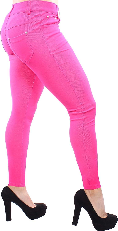 Enimay Women's colord Jean Look Jeggings Tights Spandex Leggings Yoga Pants