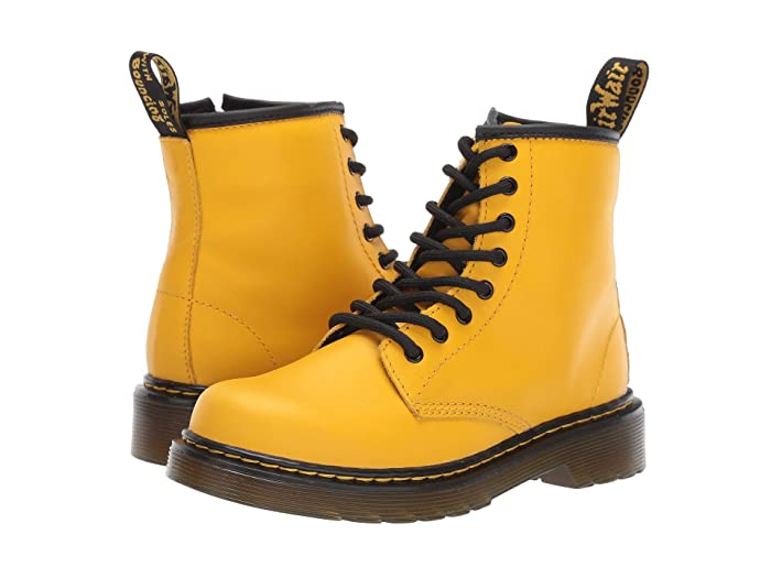Dr. Martens Kids Collection  1460 Delaney Boot (Little Kid/Big Kid) (Yellow Romario) Kids Shoes