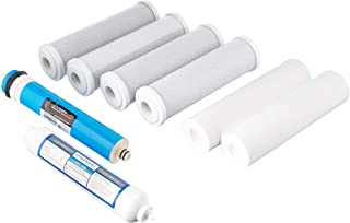 IPW Industries Inc Alpha Universal 5-Stage Under Sink Reverse Osmosis Annual Replacement Filter Kit, Mixed Color
