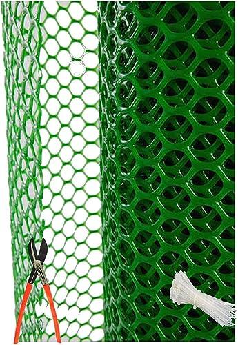 SAI PRASEEDA PVC Garden Fencing Net/Mesh (4feet Height/15feet Length) UV Stabilized 800GSM Anti Bird Net Green Color ...