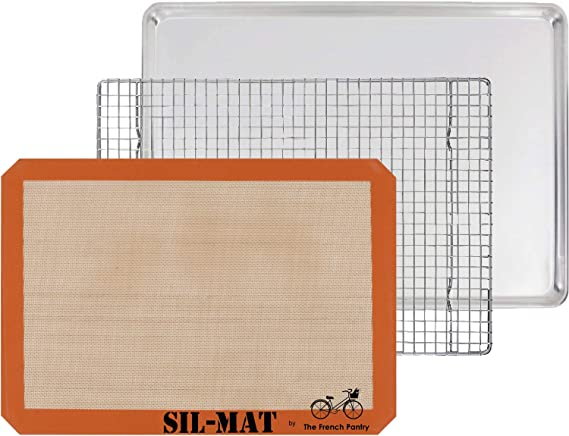 The French Pantry 3 Piece Baking Gift Set - Aluminum Sheet Pan