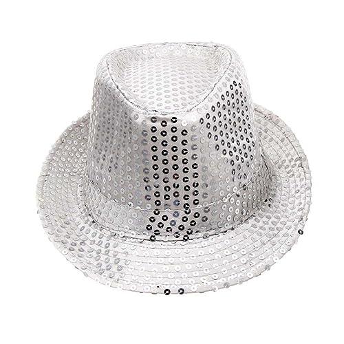 096f7ba12a6 TUDUZ Women Bowler Hats Fashion Sequined Hat Fancy Dress Dance Stage Show  Performances Hat Jazz Hat