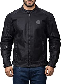 Royal Enfield Polyster Black Riding Jacket for Men Size (XL) 44 CM (RRGJKK000004)