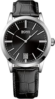 Hugo Boss Success Black Dial Leather Strap Men Watch 1513129