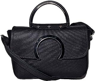 حقيبة للنساء-اسود - حقائب طويلة تمر بالجسم