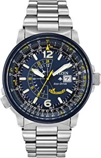 CITIZEN Mens Solar Powered Watch, Analog Display and Solid Stainless Steel Strap - BJ7006-56L