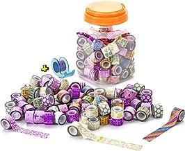 120 Rollos Mini Cinta Adhesiva Washi Glitter Adhesivo de