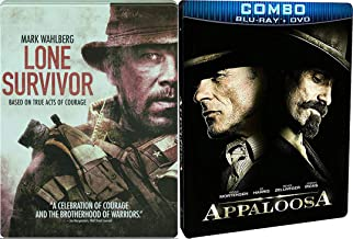 Rivals Western & War on Blu-ray Old and New Steelbook Lone Survivor Acts of Courage & Appaloosa (Exclusive Deluxe Packaged Blu-ray/DVD Combo) 2-Movie Bundle
