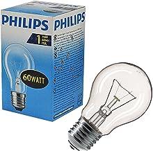 Philips Standaard AGL60 Gloeilamp E27 60-Watt 10/20/50/100-Pack Clear 10x Philips E27 60W