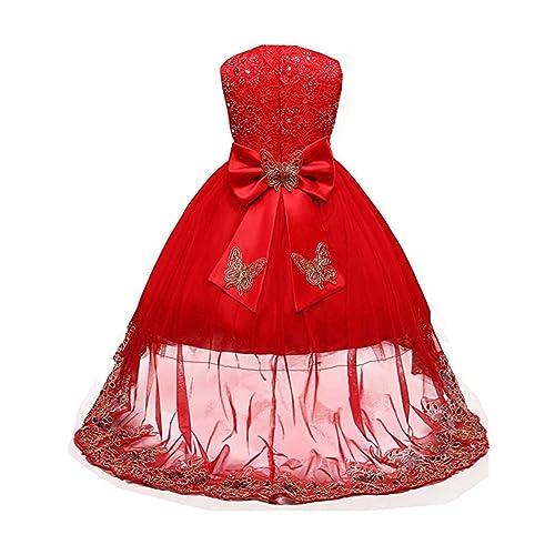 72886df51ee ZAH Little Big Girls High-Low Bridesmaid Flower Girl Baptism Christening  Birthday Party Dress