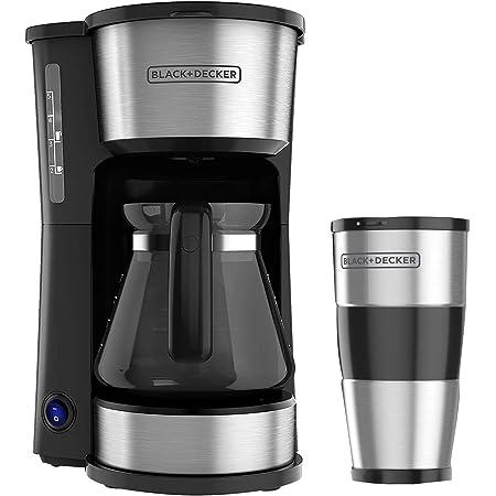 Cafetera Black + Decker 4 en 1 Filtro Permanente con Jarra de Vidrio, 5 Tazas, CM0755S-MX