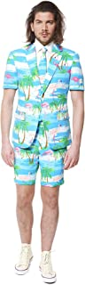 Men's Summer Suit in Different Prints - Includes Shorts, Short-Sleeved Jacket & Tie