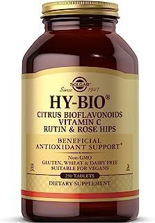 Solgar HY-Bio Vitamin C with Bioflavonoids Tablets, 500 mg, 250 Count