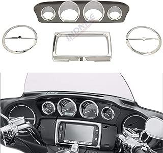 Chrome dashboards Inner Fairing Trim Kit For Harley Electra Glide Street Glide Ultra Limited 2014-2018