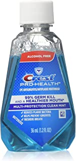 Crest Pro-Health Mouthwash, Alcohol Free, Multi-Protection Clean Mint 1.2 oz (Pack of 2)