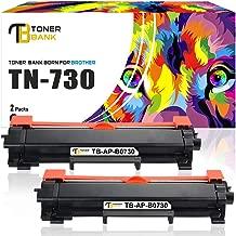 Toner Bank Compatible Toner Cartridge Replacement for Brother TN730 TN-730 TN760 TN-760 HL-L2370DW MFC-L2710DW HL-L2350DW HL-L2395DW MFC-L2750DW (Black, 2-Pack)