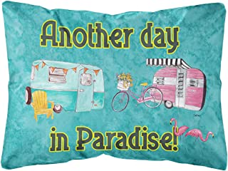 Another Day in Paradise Canvas Fabric Decorative Pillow
