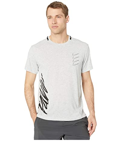 Nike Top Short Sleeve PX (Light Smoke Grey/Heather/White/Black) Men