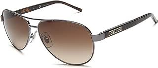 Women's Ra4004 Aviator Sunglasses, Grey Horn & Brown Gradient, 59 mm