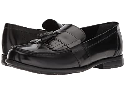 Nunn Bush Denzel Moc Toe Kiltie Tassel Slip-On KORE Walking Comfort Technology (Black) Men