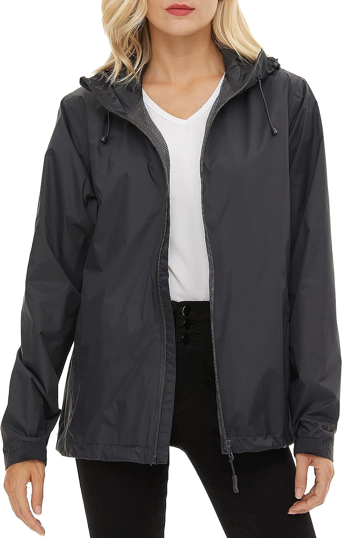 BenBoy Women's Rain Jackets Lightweight Luxury Waterproof Tampa Mall Raincoat Wind