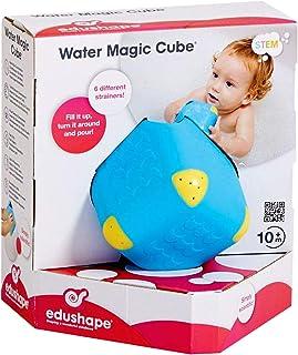 Edushape Water Magic Cube & Magic Mirror Shapes Bath Tub Toy Play Set for Children, Water Toy Set