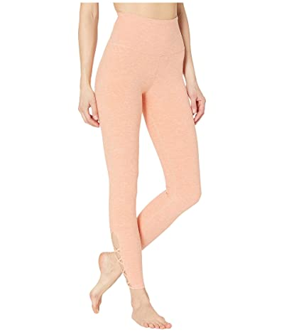 Beyond Yoga Spacedye Crossed My Mind High-Waisted Midi Leggings (Coral Dust/Melon) Women