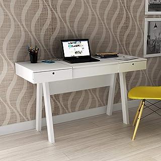 Penteadeira Escrivaninha Com 2 Gavetas Pe2002 Tecno Mobili - Branco