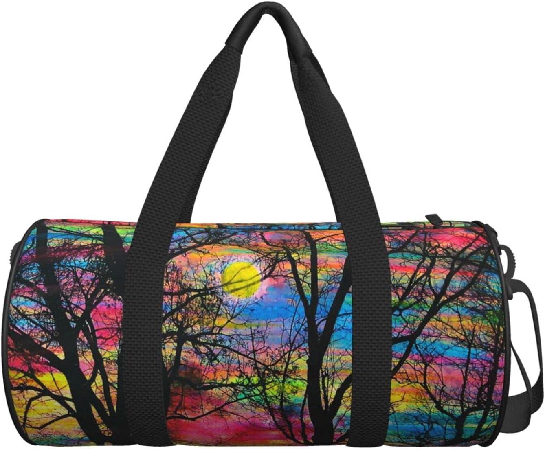 Duffel Weekender Cheap mail order shopping Bag for Men Women Sunrise S shipfree Colorful