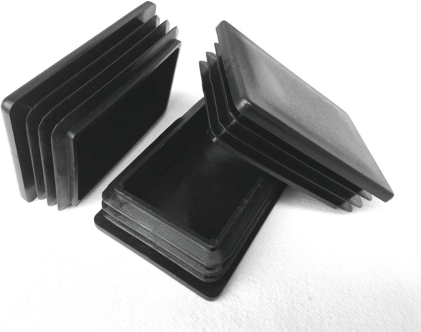 5 tappi rettangolari per tubi 10 x 20 mm.