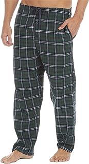 Mens Pyjamas Lounge Pants Cotton Flannel Bottoms Trouser Nightwear PJs Sleepwear Big & Tall Plus Sizes up to 4XL