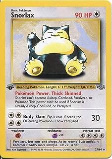 Pokemon Jungle 1st Edition Rare Card #27/64 Snorlax