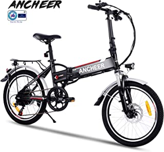 ANCHEER 20 Inch Ebike Folding Electric Bike with 36V 8Ah Removable Buit-in Lithium-Ion Battery, Foldable Electric Bicycle with 7 Speed Gears