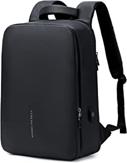 College Laptop Backpack Large Compartment Student Backpack, Slim Durable Business Laptops Backpack with USB Charging Port, Water Resistant Travel Laptop Backpack for Men & Women, Black