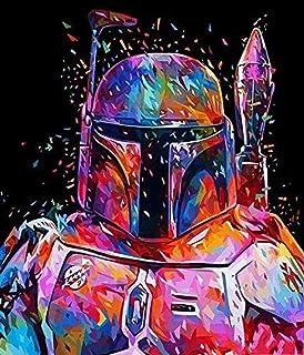 Peinture par NuméRos Soldat Star Wars Kit De Peinture à l'huile sur Toile Bricolage pour Enfants Et Adultes Et DéButants C...