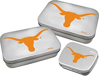 tional NCAA Texas Longhorns Decorative Mint Tin 3-Pack with Sugar-Free Mini Peppermint Candies