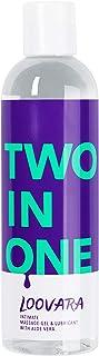Loovara TWO IN ONE – 2 en 1, aceite de masaje y gel lubricante | ingredientes naturales, sin fragancia | para juegos eróticos, durante el sexo o con juguetes sexuales| dermatológicamente probado