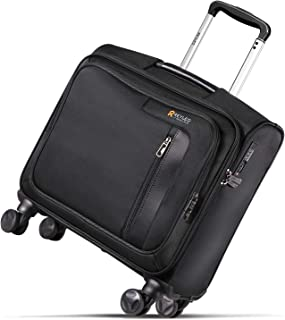 luggage with built in seat