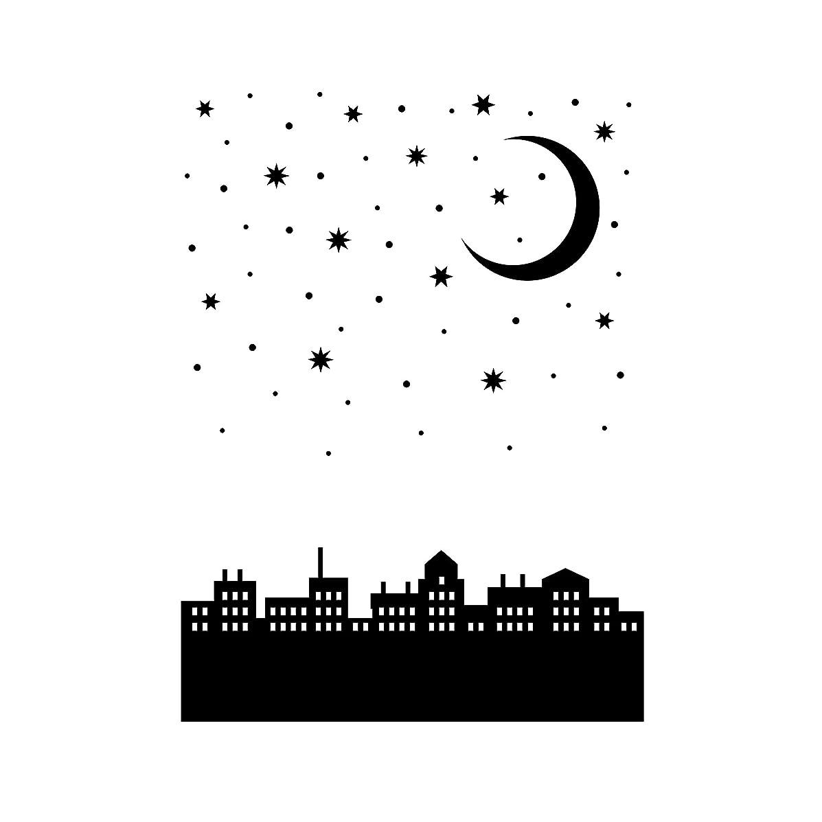 Darice 30041351 Embossing Folder: City, Moon Nightscape