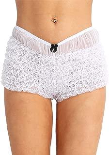 Women's Sexy Ruffle Panties Tanga Dance Bloomers Sissy Booty Shorts