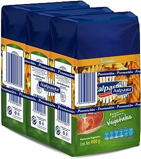 Italpasta Tornillo con Vegetales, 400 gr, 3 Packs