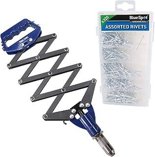 AB Tools Lazy Tong Blind Pop Pot Rivet Riveter Gun 2.4mm - 6.4mm + 320 Aluminium Rivets