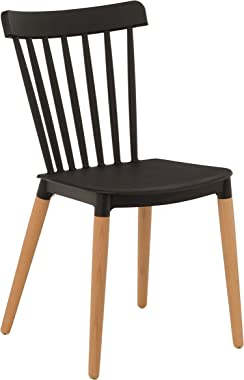 TIED RIBBONS DSW Designer Chairs for Home, Living Room, Cafe, Bed Room, Dining Room, Office, Side Chair, Accent Chair (Black