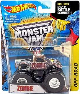 Hot Wheels Zombie #11 2015 Monster Jam Monster Truck Includes Snap-on Battle Slammer 1:64 Scale by Monster Jam