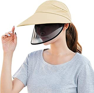 Taiduosheng Womens Mens Safety Face Shield Face Protective Visor for Eye Head Sun Hat Protection Anti-Spitting Anti-Saliva