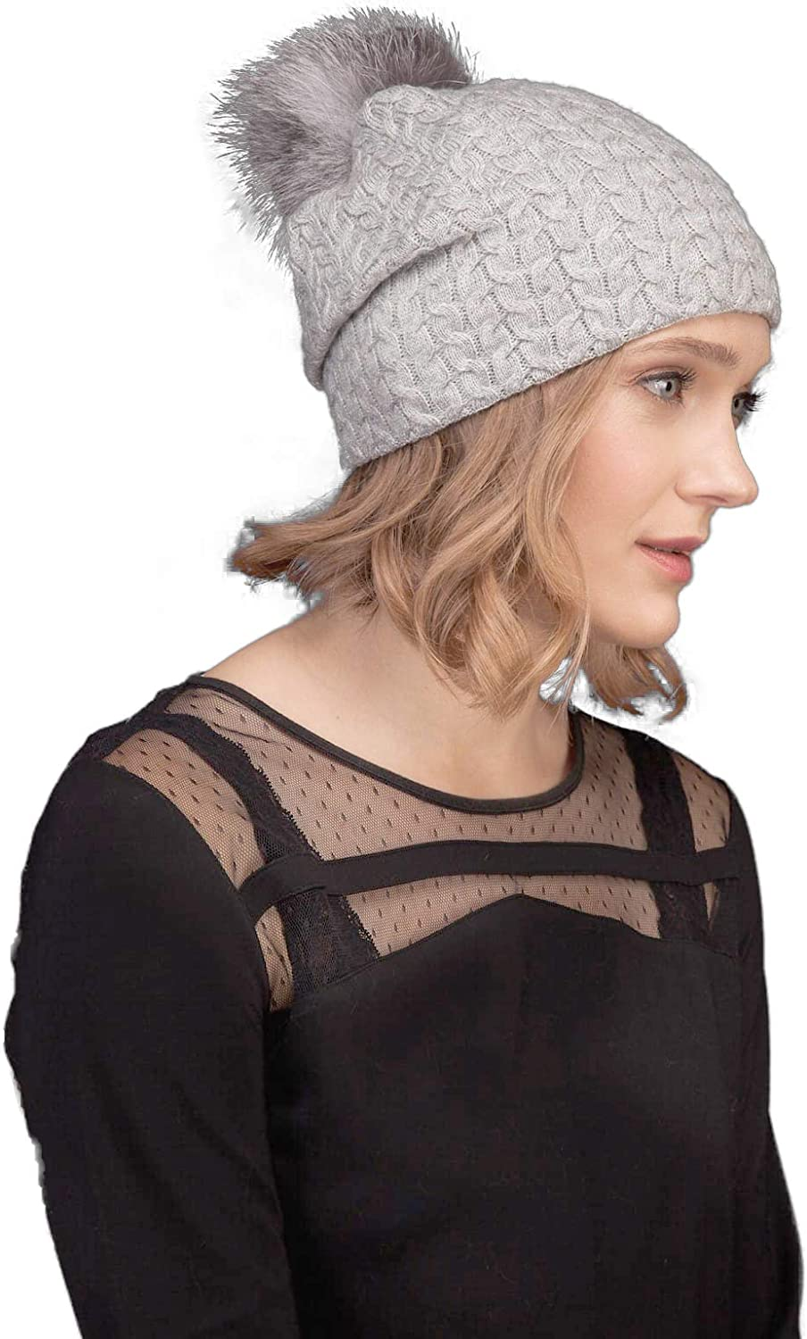 AVIMA Austin Mall Knit Pure Cashmere Beanie Hat for Slouchy Warm - Women Thi Gorgeous